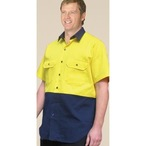 Hi-Vis Cotton Drill Shirt with Short Sleeve
