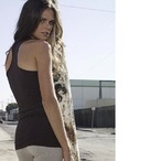 Sheer Rib Longer Length Racerback Tank Top