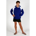 Shoulder Contrast Panel Hoodie For Adults