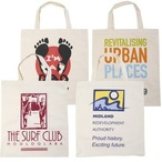 Calico Short Double Handle Tote Bag - 140 Gsm