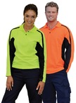 Mens TrueDry Long Sleeve Safety Polo