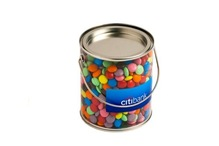 Medium Bucket Filled with Choc Beans 450G (Corporate Colours)
