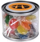 Assorted Colour Lollipops in 500ml Drum