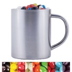 Assorted Colour Mini Jelly Beans in Stainless Steel Mug