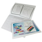 A4 colouring in calendar 24pp + cover with pencils