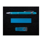 Superior Gift Set - Miami Pen, Velocity Power Bank, Swivel Flash Drive