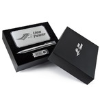 Superior Gift Set - Matrix Power Bank, Napier Pen and Swivel Flash Drive