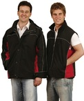 Mens 3-in-1 Jacket with Reversible Vest as Lining Jacket with contrast piping & side panels