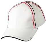 Tri-colour pique mesh structured cap